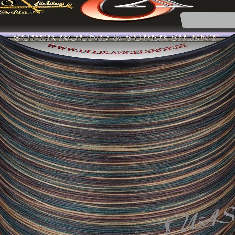 DELTEX SUPER STRONG CAMOU RUND 0.20MM 13.6KG 1000M 8 FACH RUND CAMOU GEFLOCHTENE ANGELSCHNU 51c732