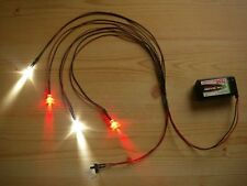 S215 LED Beleuchtung Xenon RC Tuning 1:8 1:10 1:18 1:24 + Schalter Batterieclip