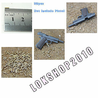 1//6 Scale HOT pistol bullet metal 50pcs TOYS pistol /& mag not include XE47-03