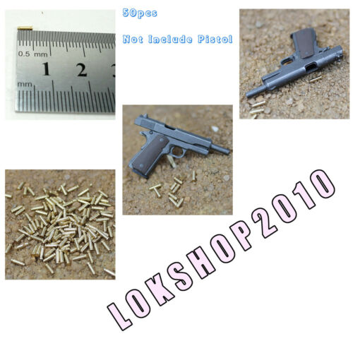 "LB-15 1//6 HOT 12/"" figure pistol cartridge case 50pcs metal TOYS XE47-04"
