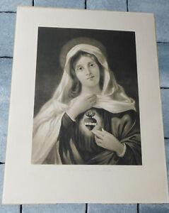 ORIGINAL-1900-F-LETTAU-sagrado-corazon-de-MARIA-sacred-heart-SACRE-COEUR-jesus