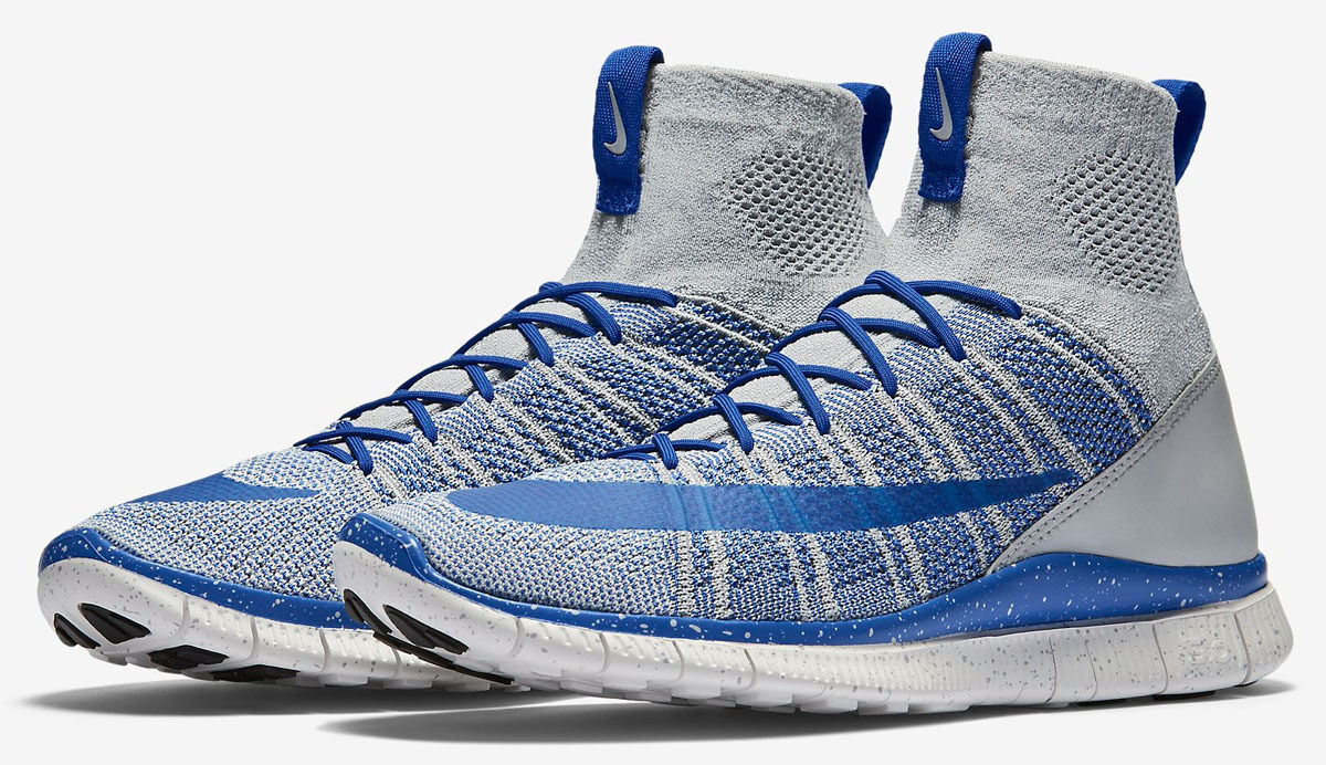 7315be23906 NEW Men Men Men Nike Free Flyknit Mercurial Pure Wolf Grey Game Royal 805554  003 SZ