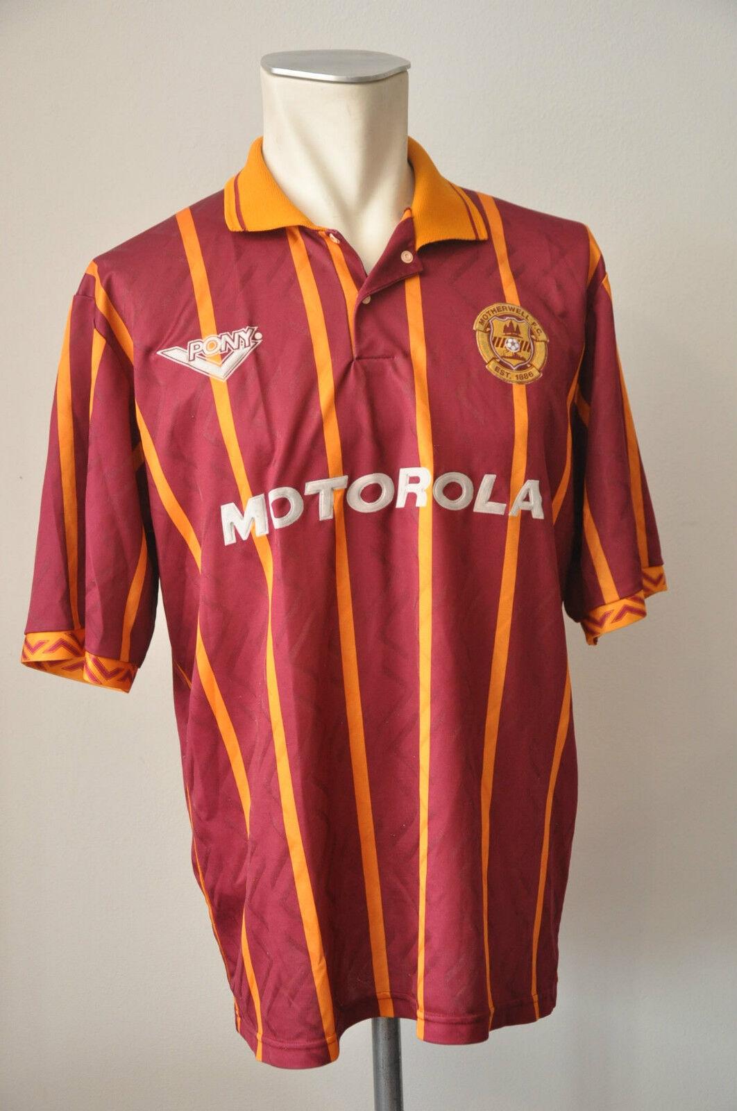 1994-95 Motherwell F.C. Trikot Gr. 42 44 L Jersey MotGoldla vintage Scotland