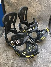 BURTON Mission SMALLS youth snowboard bindings Black Sz S Small