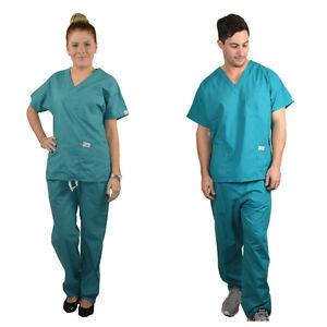 6fe7f305504 Image is loading Unisex-ScrubShine-Medical-Scrubs-Set-Uniform-Nurse-Vet-