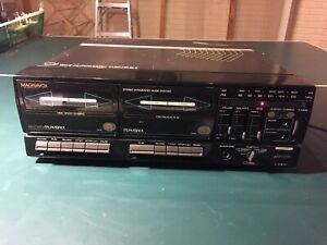 Magnavox-MX1605-Record-Player-FM-AM-Radio-Dual-Cassette-Deck-Read-Description