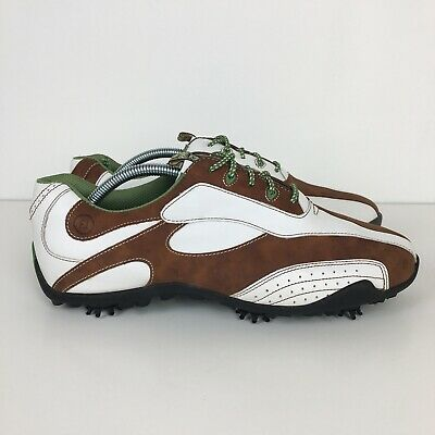 Footjoy 97114 Leather Golf Shoes Women S Size 11 M Soft Spikes Lopro Collection Ebay