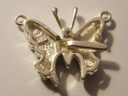 Large Sterling Silver Butterfly Clasp Single Row  4 Pearls-Beads Necklaces .925