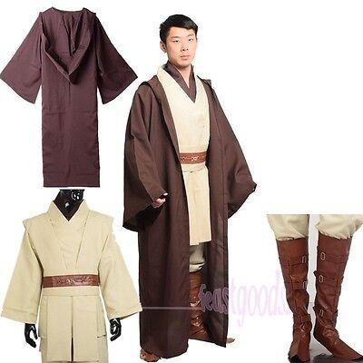 Jedi Master Obi,Wan Ben Kenobi Cosplay Tunic Costume Star Wars Outfit  Cloak/Robe