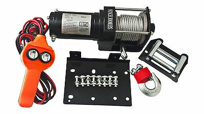 3000 LB ATV WINCH ELECTRIC 12V VOLT RECOVERY BOAT TRAILER TRUCK PLOW NEW