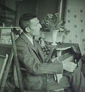 Photograph-of-Maurice-Brianchon-French-Artist-Magic-Lantern-Glass-Slide