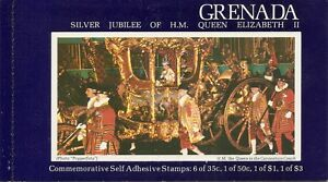 Grenada SC # 792a-b Silver Jubilee Of Elizabeth II. Booklet. Mint Condition.