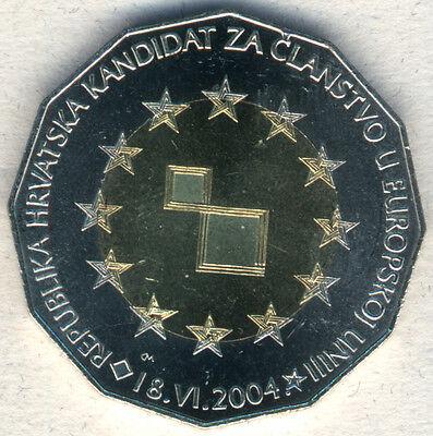 a Сandidate for European Union Croatia 25 Kuna 2004 Bi-metallic Croatia