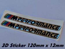 2x BMW M Performance 3D Logo Aufkleber-Abzeichen M1 M3 M5 X5 X6 Z3 120mm