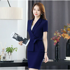 Business Ladies Office Uniform OL Style Work Wear Two ...