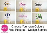 Wall Sticker Personalised Custom Name First Initial Girls Boys Vinyl Decal