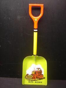 Vintage-Big-Boss-Bulldozer-Sand-Box-Beach-Shovel-Ohio-Arts-Tin-Toy