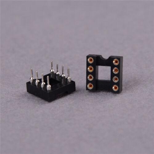 10x Rundloch 8pol Raster 2,54 mm J IC Sockel Adapter CL