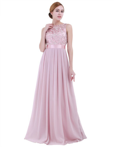 Womens Chiffon Bridesmaid Dress Long Evening Ball Gown Prom Party Cocktail Dress