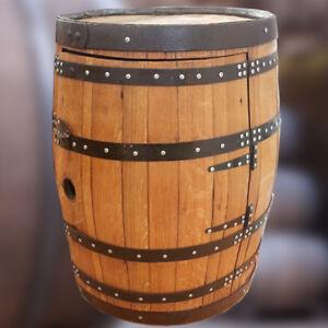 Whiskey Barrel Wine Rack Drinks Cabinet