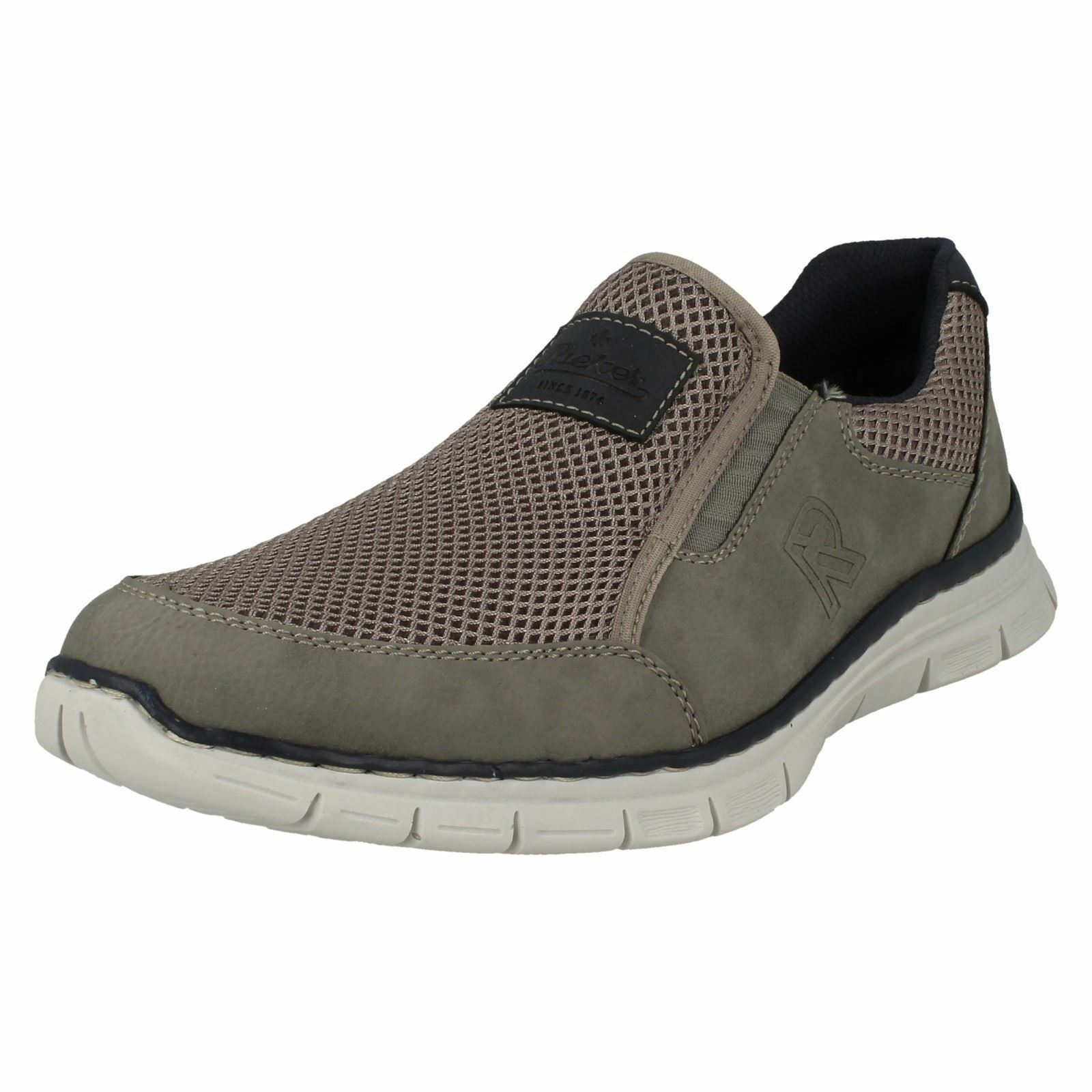 Herren Rieker B4873 On Grau Synthetic Casual Slip On B4873 Schuhes b7ea7a
