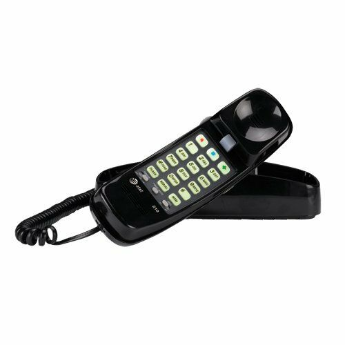 AT&T 210M Trimline Corded Phone, Black, 1 Handset, Style:Black [210BK] BRAND NEW