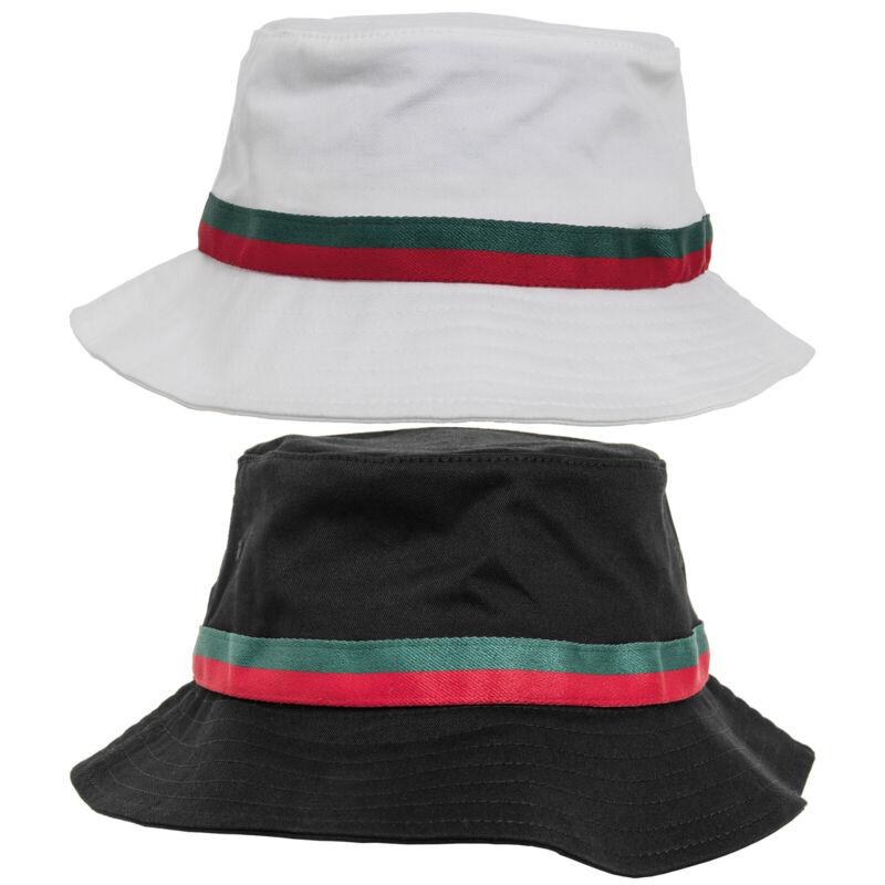 Radient Flexfit By Yupoong Unisex Stripe Summer Sun Beach Fishing Festival Bucket Hat