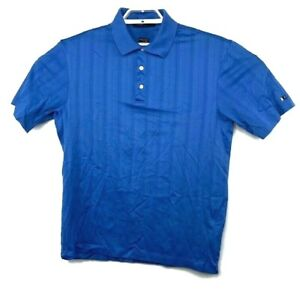 Vtg-Tiger-Woods-Collection-Nike-Mens-Blue-Polo-Golf-Shirt-FitDry-Size-Medium