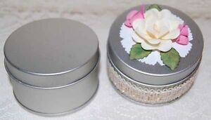 Set-of-2-Metal-Tins-To-Decorate-Use-as-Favors-or-Embellish-Quilling-Punchart