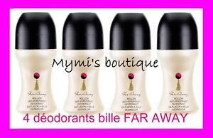 lot de 4 deodorants ball scented far away d avon deos new ebay