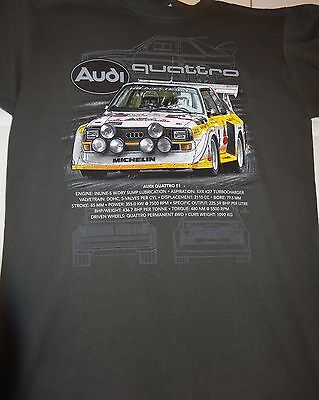 AUDI QUATTRO S1 #2 RALLY CAR PRINTED T SHIRT SMALL-2XL BRAND NEW DESIGN