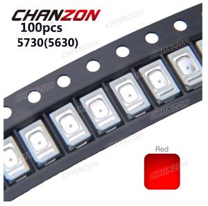 100pcs SMD Chip LED 5730 5630 Red 0.2W Surface Mount SMT Beads 0.2 W 60mA DC 2V