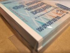 ZIMBABWE ZIM 100 TRILLION DOLLARS AA 2008 SERIES P-91 UNCIRCULATED - FULL PACK