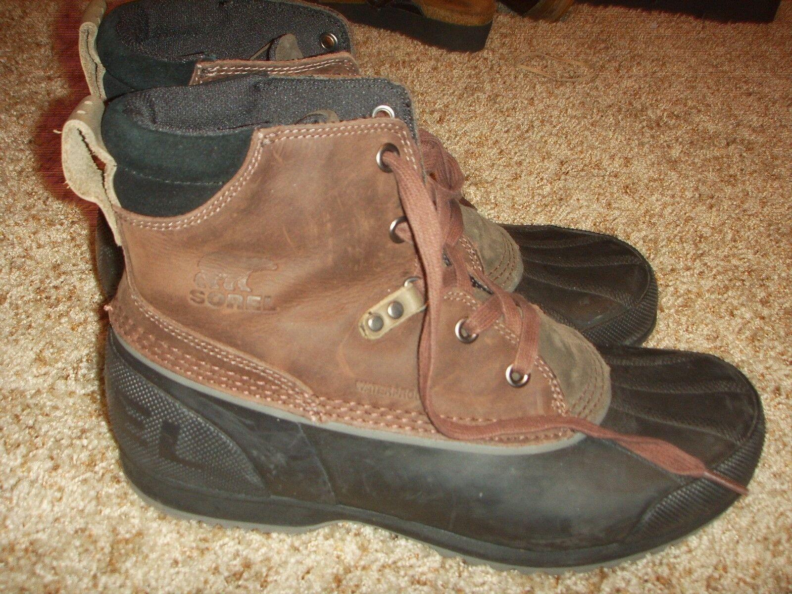 SOREL 1553381231 Ankeny Cordovan Madder brown waterproof Mens Size 9.5