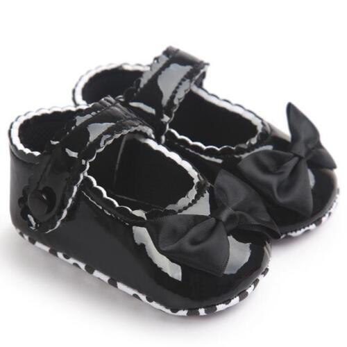 Toddler Kids Girl Crib Shoes Newborn Baby Bowknot Soft Sole Prewalker Sneakers C