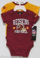 Nfl Infant Onesie-set Of 2- Washington Redskins 0-3 Months