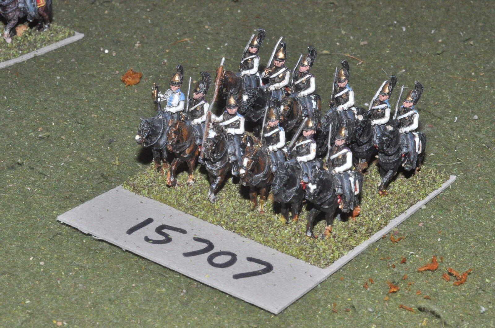 15mm napoleonic   russian - cuirassiers 12 cavalry - cav (15707)