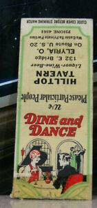 Vintage-Matchbook-Cover-Y7-Elyria-Ohio-Hilltop-Tavern-Dine-amp-Dance-Elegant-Table