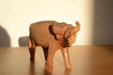 "Crude Wooden Carved African Bison Buffalo Pale Wood 3.5"" Tall"