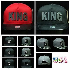 15749be7b50 Plain Baseball Cap NYC SF TX LA KING Caps Snapback Fashion Hat Flat ...