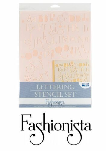 """LETTER STENCIL SET Upper Lower Numbers 3//8/"""" and 1/"""" FASHIONISTA STYLE Lettering"""