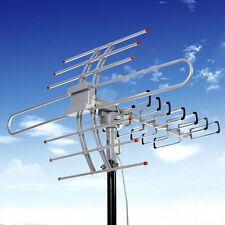 2017 HDTV 1080P Amplified Antenna Digital HD TV 150 Mile 360 Rotor UHF/VHF/FM FG