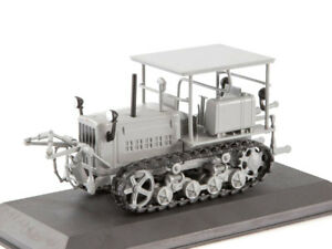 DT-57-Caterpillar-Tractor-Soviet-Farm-Vehicle-USSR-1960-Year-1-43-Scale-HACHETTE