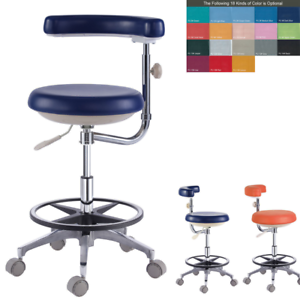 18-Colors-PU-Leather-Dental-Doctor-Dentist-Assistant-Nurse-Stool-Chair-QY500-N