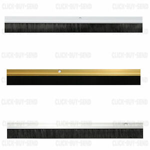 Garage Door Brush Strip Draught Excluder Excluders Seal Aluminium White Gold