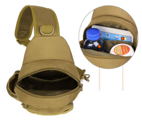 Men Tactical Molle Sling Chest Bag Waterproof Backpack Outdoor Assault Daypack