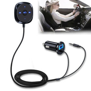 Handsfree Wireless Bluetooth 3.5mm Car Aux Audio Music Receiver USB Changer
