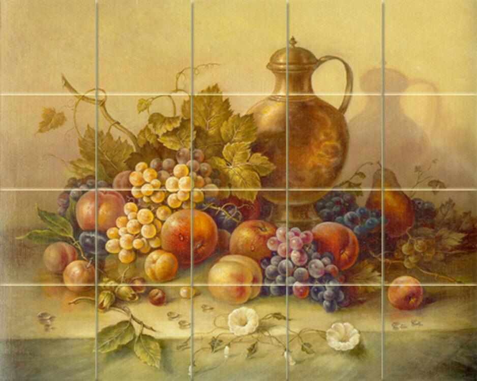 Corrado Pila Art Mural Tumbled Marble Fruits Tile  337