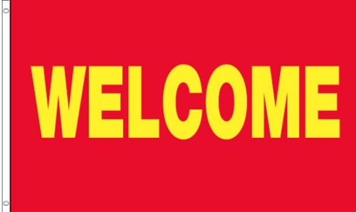 3/'x5/' Ft WELCOME Banner Advertising Business Sign Flag rb