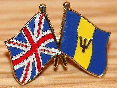 UK /& BARBADOS Carribean FRIENDSHIP Flag Metal Lapel Pin Badge Great Britain